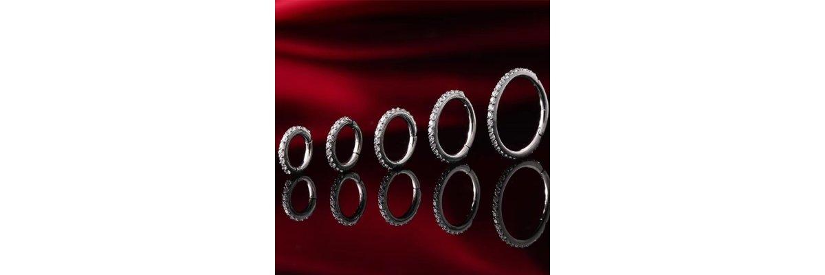 Hochwertiger Clicker Piercing Ring - Clicker Segmentring scharnier | PIERCING-EXPRESS