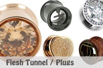 Flesh Tunnel und Plugs
