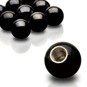 piercing einzelteile Schwarze Kugel für 1,6mm Gewinde