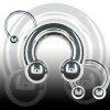 Brustwarzenpiercing  Hufeisen 3mm Septum Piercing