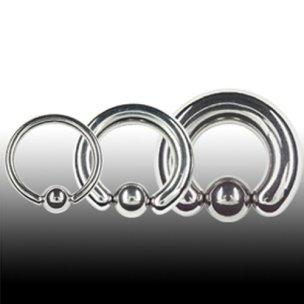 0,8mm Piercing Ring für Ohr und Nasepiercing