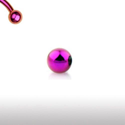 Piercing Kugel in Pink aus Chirurgenstahl