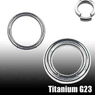 Segment Ring Titan 2mm Intimpiercing Brustwarzenpiercing