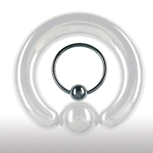Intimpiercing Schwarz 10mm Klemmring für Mann