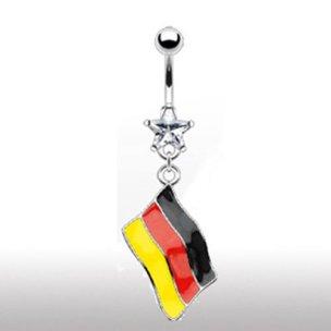 Bauchnabel Piercing Schmuck Deutschland Flagge