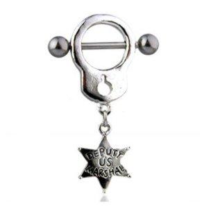Brust Schmuck Handschelle mit Stern