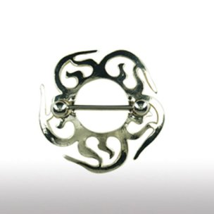 BRUSTPIERCING Schmuck Tribal Schild Sonne Brustschild
