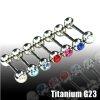 Tragus Stecker Titan glitzer 1,2mm Piercing ohr
