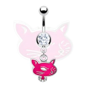 Katze Pink Bauchnabel Piercing Schmuck