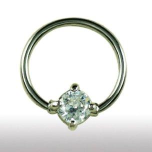 Burstwarzeniercing Ring mit Glitzer