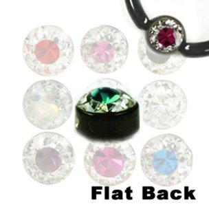 Flatback Kugel mit kristall schwarz für Lippenbändchen