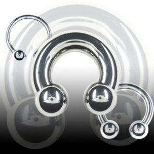 Intimpiercing 4mm Hufeisen Piercing Circular Barbell