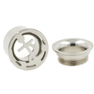 double flared tunnel Ohrpiercing Anker