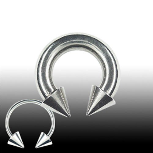 Ohr Piercing Hufeisen Septum Ring mit Spitzen