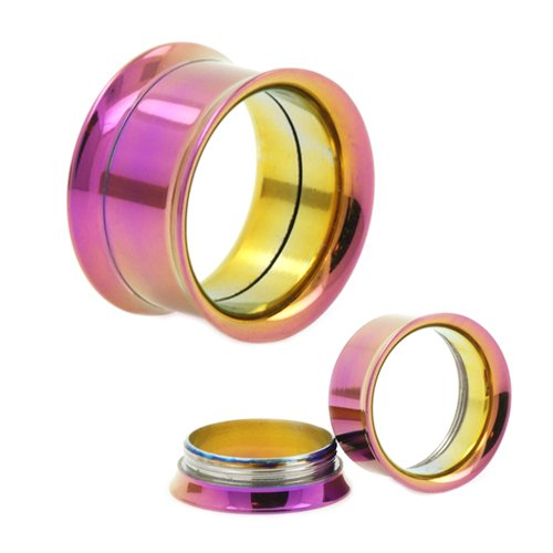 double flared tunnel Ohr Piercing Purple