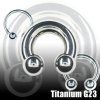 Lippenpiercing Titan Hufeisen Septum Ring