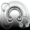 Septum Ring Titan 5mm Hufeisen Intimpiercing
