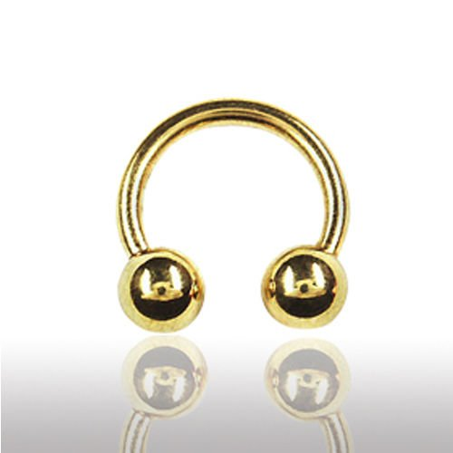 Lippenpiercing Gold Hufeisen dünne Nasenpiercing