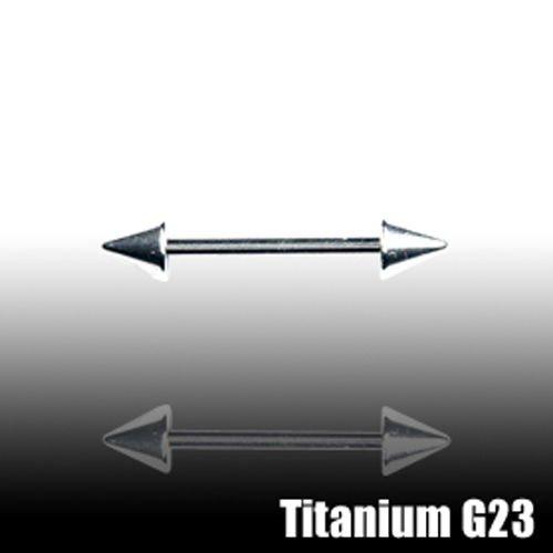 Ohr piercing Titan Stecker mit 2 Spitzen