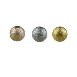 1,2mm Piercing Kugel mit Glitzer Diamant Optik