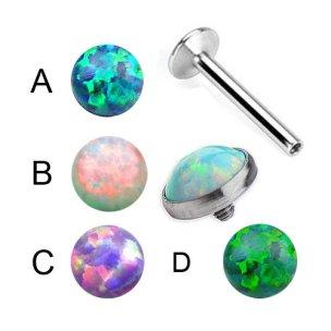 Labret flache Opal Stein Platte