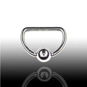 Brustwarzenpiercing 1,6mm D-Ring