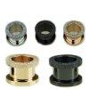 Flesh Tunnel Diamant Optik in schwarz Gold und Rosegold