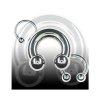 Ohrpiercing Hufeisen 1,0mm Helix Piercing