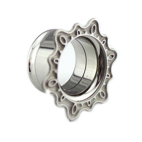 double flared tunnel Ornament ohr Piercing