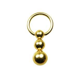 BNSM Brustwarzenpiercing Gold Ring 1,6mm