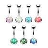 Opal piercing für bauchnabel
