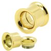 double flared tunnel Ohrpiercing Gold