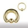 Intimpiercing Gold Shop 3,0mm Ohrpiercing Ring