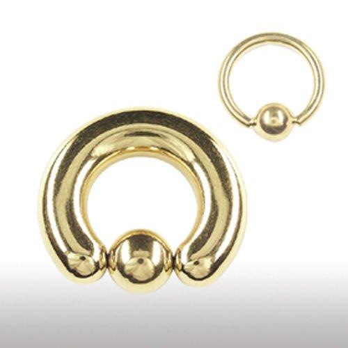 Gold Piercing Ring 6mm für Brust und Intimbereich