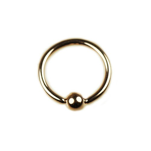 Lippenpiercing Rosegold Ring 1,6mm Ohrpiercing
