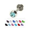 Ohr Piercing Titan stecker mit 3mm Glitzer
