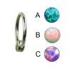 Septum piercing Titan Ring mit Opal Stein