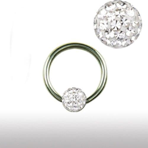 1,2mm Titan Ring 3mm Epoxy Kristall Kugel