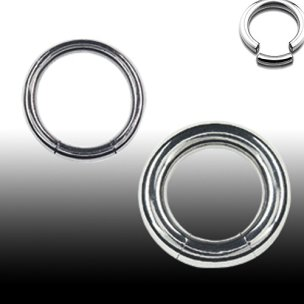 1,6mm Stahl Smooth Segment Ring