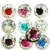 Piercing multi kristall kugel mit Epoxy