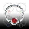 Septum Piercing Titan Ring mit Glitzer