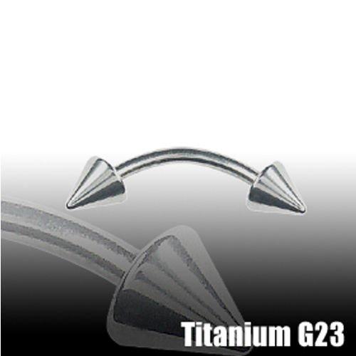 Bridge Piercing Titan Bananabell mit Spitzen