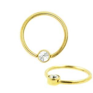 1,2mm Gold Ring Flatback Kristall
