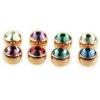 6mm Rosegold Piercing Kugel mit großer kristall