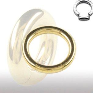 Segmentring 3mm gold Ohr Ring Intimpiercing