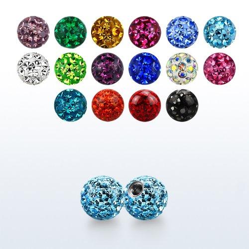 Epoxykugel piercing Ersatz mit Multi kristalle