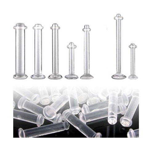 Helix Piercing Retainer mit Gummiring 1,2mm