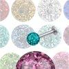 Tragus Piercing Labret mit 4mm Multikristall Kugel