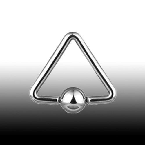 Piercing Ring 1,6mm Ohr Piercing 3-Ecke