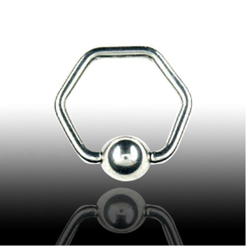 Septum Piercing Ring 1,6mm Hexagon